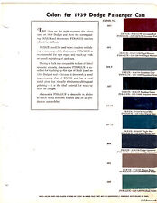 1939 DODGE D-11 LUXURY LINER SPECIAL DELUXE 39 ORIGINAL PAINT CHIPS DUPONT 4