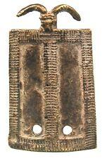 Art Africain Tribal - Ancien Pendentif - Bronze Lobi - Bijoux Ethnique - 6,6 cms