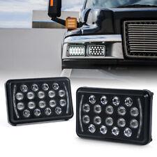 "Xprite 2PCs Insight Series 4X6"" Rectangular LED DRL Headlight with High Low Beam"
