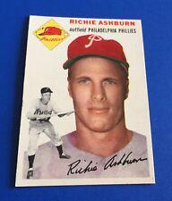 1954 Topps Richie Ashburn #45 Philadelphia Phillies Baseball Card NM