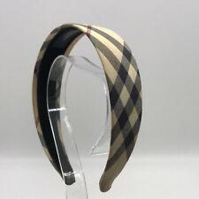 Burberry Tan Plaid Headband