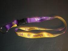 Brand New NFL Lanyard Keychain Minnesota Vikings ID Holder reversible