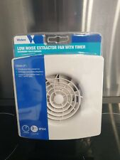 Low noise 4 inch extractor fan with timer for use with bathroom toilets shower