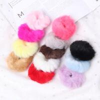 Lolita Girls Fluffy Faux Fur Furry Scrunchie Elastic Hair Ring Rope Band Plush