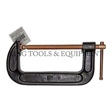 New KING 6 Inch C Clamp, Strong Grip Iron Body Copper Plated Steel Screw G Clamp