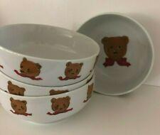 Lot 4 Curzon Vintage Porcelain Teddy Bear Bowls