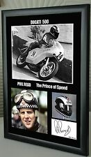 """Phil Read Isle of Man TT Motor Cycle Framed Canvas Signed """"Great Gift"""" #3"""