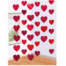 6 x 7ft RED HEART STRING Valentines Day Decorations Engagement Party Love