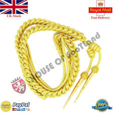 British Army Shoulder  Aiguillette in Gold  Wire Cord  Air Force, Navy,Military
