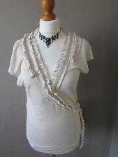 Linen Patternless V Neck Other Women's Tops