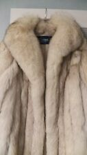 SAGA FOX Fur Jacket Coat Natural Blue Fox Women Sz S