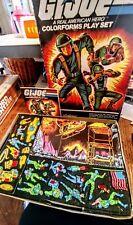 Vintage 1982 GI Joe Real American Hero RAH Colorforms Complete Play Set w/ Box