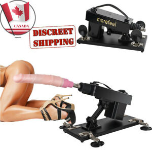 Sex Machine Toy Male Women Auto Masturbation-Fucking-Love Machine W/Dildo Black