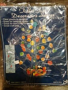 🍡New Sealed Vintage Tidbit Tree Decorative Server Plastic Washable Party Tray