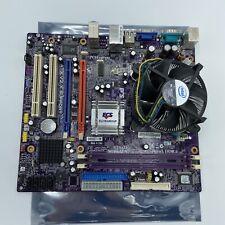 ECS Elitegroup 945GCT-M3 LGA 775 Motherboard, w/ Intel Dual Core E2180 & Sink