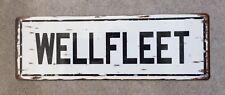 Wellfleet MA Cape Cod Harbor Beach Ocean Vintage Style Street Sign Home Decor