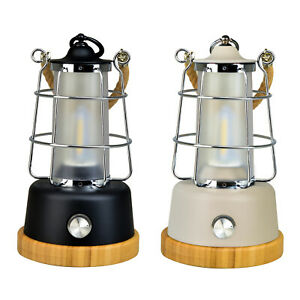 Retro LED Outdoor Lantern Black/White, With Rechargeable Lithium-ion Batteries