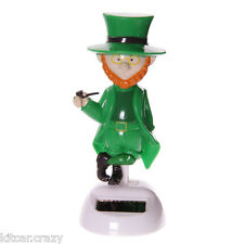 NOVELTY SOLAR POWERED DANCING LUCKY LARRY LEPRECHAUN, DASHBOARD TOY, HOME OR CAR