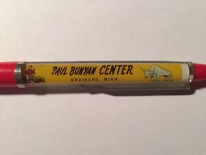 The Bunyan Center Floaty Floating Pen Souvenir Promo Paul and Babe the Blue Ox