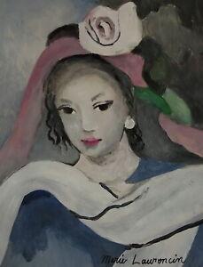Fine French Modernist unique painting - portrait, signed, Modigiani, Picasso era
