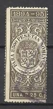 5789-SELLO FISCAL ESPAÑA AÑO 1894-95 POLIZAS SPAIN REVENUE STAMPS CLASSIC FISCAU