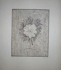 Roger Vieillard gravure originale signée art abstrait surréaliste abstraction