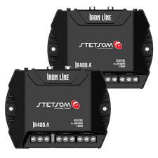 2x Stetsom IR400.4 2 ohms Iron Line 400w Car Audio Compact Amplifier 4 channel
