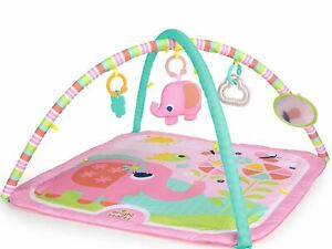 Bright Starts Fanciful Flowers Pretty In Pink Baby Activity Gym Playmat