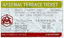 FOOTBALL ARSENAL v MANCHESTER UNITED 17May 1993 original ticket O'Leary Farewell
