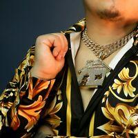 "3pc Huge Stardust Bando House Gold Pt 18,20"" Fully Cz Hip Hop Cuban Choker Chain"