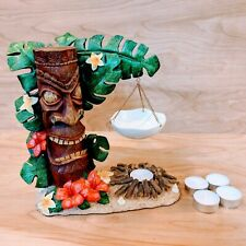 Yankee Candle Co Tiki Hut Hanging Tart Warmer Rare Retired Includes candles EUC
