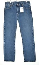 Mens Levis 501 Straight Leg PREMIUM Blue Big E Stonewash Jeans W34 L32