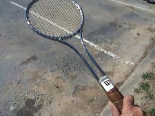 Vintage WILSON 1970's cutting edge/ Chrome  Steel Tennis Racquet - Sensational