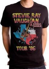 Stevie Ray Vaughan Tour 86 Double Trouble Classic Rock Music T Shirt Srv0023