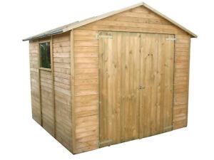 Aquino - Casetta da giardino per gli attrezzi in legno di pino impregnato.