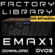 Emu Systems Emax 1 Factory Library 1160 Disk Images HFE format for HxC and GoteK