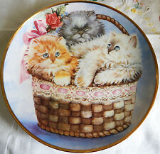 """Three Little Kittens"" by K. Duncan (8.25"" Plate) Sn: J5067 Franklin Mint 1991"