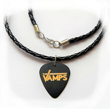 """THE VAMPS guitar pick plectrum LEATHER braided NECKLACE 20"""""""