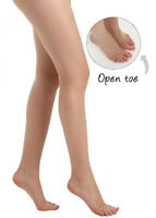 Classic Sheer Open Toe Tights Sandal Toe Toeless Tights Pantyhose10 Denier- Nude