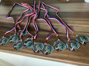 10 x cycling medals great for charity /sponsored rides