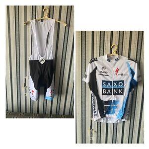 craft team saxo bank size L bib short + jersey specialized cycling replica  Men