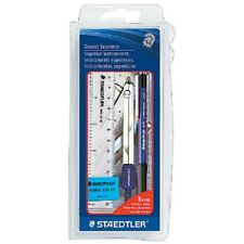 Staedtler Geoset Supreme 8 Pc Set Compass Mechanic Pencil Square Protractor