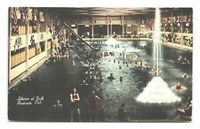 REDONDO CA CALIFORNIA INTERIOR VIEW AT THE BATH HOUSE POSTCARD A-4
