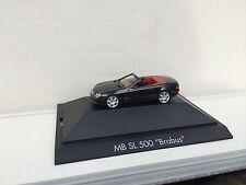 """Herpa Mercedes-Benz SL 500 cabriolet """"BRABUS"""" v8 Noir MB PC h0 1:87"""