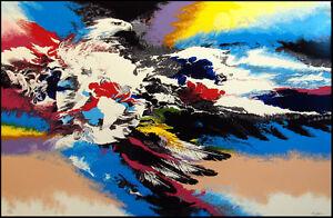"Robert Katona ""Thunderbird"" Signed & Numbered Serigraph, animals hidden in image"