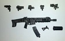 "PAINTED ""Modular"" ACR Assault Rifle -1:18 Scale Weapon for 3-3/4"" Action Figures"
