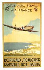 AIR FRANCE ....POTEZ AERO SERVICE    affiche  format 50/70