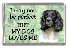 "English Springer Dog No.1. Fridge Magnet ""I may not be perfect ..."" by Starprint"