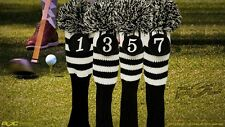 NEW 1 3 5 7 Set Classic Head Covers Sock Black Cover fits TaylorMade Golf Clubs
