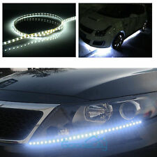6Pcs White 12''/15 LED Car Motors Truck Bike Flexible Strip Light Waterproof 12V